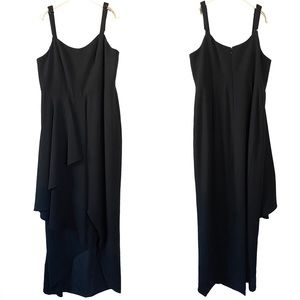 Dress the Population Black Side Flounce Gown